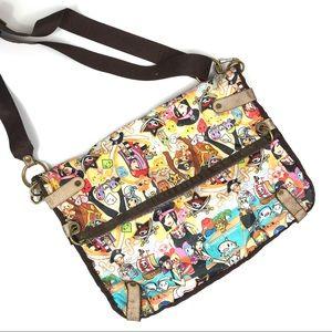 Lesportsac x Tokidoki Fold-Over Crossbody Bag